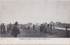 """US NY Long Island NY 1908 early CAR RACETRACK SPECTATORS at the MOTOR PARKWAY Vanderbilt Motor Parkway built by William Kissam Vanderbilt II  auto-racing enthusiast & creator of the Vanderbilt Cup (UpNorth Memories - Donald (Don) Harrison) Tags: vintage antique postcard rppc """"don harrison"""" """"upnorth memories"""" upnorth memories upnorthmemories michigan history heritage travel tourism """"michigan roadside restaurants cafes motels hotels """"tourist stops"""" """"travel trailer parks"""" campgrounds cottages cabins """"roadside entertainment"""" """"natural wonders"""" attractions usa puremichigan""""railroad ferry"""" """"car excursion"""