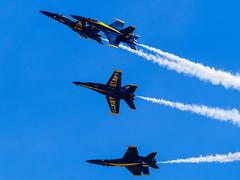 Blue Angels (maida0922) Tags: em1 mzuiko40150mmf28pro mc14 california sandiego miramar marine corps air station mcas show miramarairshow 2016 miramarairshow2016 blue angels blueangels2016 usnavy navy aviation squad team f18 fa18cd hornet acrobat fighter jet