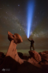 The Queen's Pedestal (Mike Berenson - Colorado Captures) Tags: bistibadlands copyright2016bymikeberenson landscape nature newmexico night nightphotography nightscape farmington stars milkyway clouds