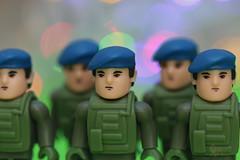 Macro Mondays - in a row - On Parade (Neyol) Tags: macro canon 70d color colour stern green blue soldier bokeh dof depth field closeup mondays row