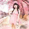 Yuuki Bookmite [Pile up] (Sunkora) Tags: secondlife photoshop draw mesh women girl cute cherry japan summer spring kawaii park hair brown white smoke 3d chat cap