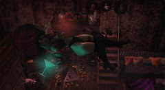 Dancing with the Devil (RockBlossom [ratchet2riches.com]) Tags: addams besom photoshop wow pretty eyes me hair face foliage fashion zenith dirtystories vr