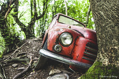 (Denisa Colours of Decay) Tags: abandoned abandonedplaces car lost forgotten retro oldschool urbex urbanexploration woods nature