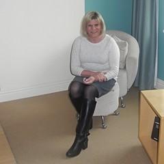 Talbots skirt and top (krislagreen) Tags: tg tgirl transvestite transgender cd crossdress skirt tights boots sweater femme feminine feminized feminization