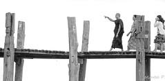 go forward (Montse.P) Tags: myanmar2016 monjos u bein bridge go forward monk