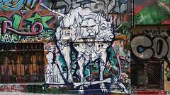 Cruel... (colourourcity) Tags: streetartaustralia streetart graffiti melbourne burncity awesome colourourcity cruel cezarystulgis hosierlane cerberus