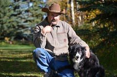 Pipe and dog (hunter_185) Tags: pipe tobaccopipe pipesmoking dog farm cowboy