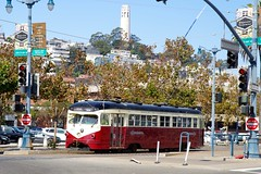 Tram & Coit Tower (frankbehrens) Tags: california sanfrancisco kalifornien coittower