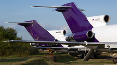 Boeing 727 Freighters. (spencer.wilmot) Tags: eghl lasham qla airside ramp 727 b727 fedex n481fe tail ttail boeing cargo freight freighter aviation airplane aircraft airliner airport apron plane jet jetliner classic n480ec