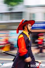 Seoul: King Jeongjo's Parade (Seoul Korea) Tags: iseoulu kingjeongjo canoneos6d flickrseoul korea seoul seoulkorea sigma2470mmf28exdghsm asia asian capital city joseon kpop korean parade photo photograph procession reenactment republicofkorea royal southkorea    kr