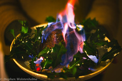 Flaming Christmas (swolstenholme1977) Tags: holy flames fire whisky guinness fruit pudding christmas chesterzoobakingprojectchristmaspud