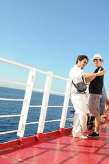 on the ferry. (LucaBertolotti) Tags: street ferry traghetto toscana isoladelba elba isola people colors colori sea mare summer