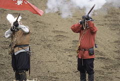Sparks Flying (dcnelson1898) Tags: folsom california outdoors renaissancefair event costume joust tudor medieval musket matchlock musketeer