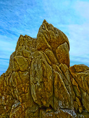 Sky pointer (elphweb) Tags: australia nsw seaside overcast cloudy rocks rocky rockformation fhdr falsehdr texture patterned pattern