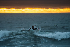 20161015 -Surf_3 (Laurent_Imagery) Tags: lajolla ca surf surfer surfing surfboard surfline surfeur surfers sea water ocean oceanpacific pacific pacificocean wave waves vagues horizon sunset orange blue clouds weather wet wetsuit windansea sandiego california westcoast coast coastal coastline spray splash aerial jumping jump drone dji editorial magazine nikon d3 sport action culture lifestyle beach silhouette