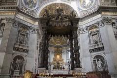 The Altar (noname_clark) Tags: italy rome vacation honeymoon vatican basilica altar baldachin