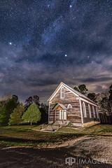 Milky Way Over Church (AP Imagery) Tags: galaxy abandoned milkyway church urbex night sky fallsofrough primitive baptist historic roughriver kentucky usa