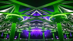 398 (MichaelTimmons) Tags: purple green symmetrical symmetry lines angles abstract digitalart art