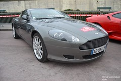 Aston Martin DB9 (Monde-Auto Passion Photos) Tags: auto automobile astonmartin aston martin db9 coup gris france rally paris evenement supercar sportive