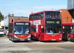 GAL SE57 YX60DXU - E239 YX61DPK - BX BEXLEYHEATH BUS GARAGE - MON 12TH SEPT 2016 (Bexleybus) Tags: go ahead goahead london bx bexleyheath bus garage depot kent adl dennis enviro 400 200 se57 yx60dxu e239 yx61dpk tfl route 422 b11