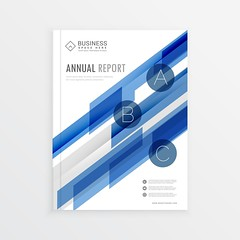 annual report template design with blue abstract shapes, brochur (jerry 2.0) Tags: business flyer brochure leaflet corporate template presentation layout page banner publication businessflyer promotional modern company organization print branding identity magazine cover document minimal catalog creative report office card mockup brochuretemplate marketing poster advertise design advert newsletter website a4 booklet promotion annual