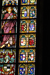Stained glass coats of arms (quinet) Tags: 2014 belgium bruges glasmalerei wappen blason coatofarms stainedglass vitrail antwerp flanders