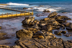 Nth Curl Curl Pool at Low Tide (Sweet Cheeks Adventures) Tags: outdoor sea rock oceanpool serene sunset northcurlcurl water ocean