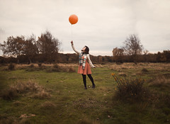 Untitled (Jessica-H-Ingram) Tags: jessicahingram jessica ingram photography photographer warm tones orange autumn balloon birthday colour park selfportrait self