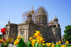 Etchmiadzin Cathedral under reconstruction, Armenia