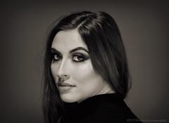 Georgia (modulationmike) Tags: mono beauty studio brunette tonal contrast eyes elegant hair nikon makeup lighting triflector lastolite