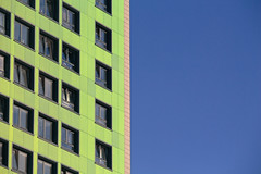 Green / Blue (eskayfoto) Tags: canon eos 700d t5i rebel canon700d canoneos700d rebelt5i canonrebelt5i building architecture stockport cheshire manchester block line lines raw blue green sk201610163025raweditlr sk201610163025