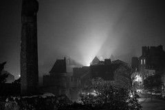 castle (Janeish) Tags: mist autumn monochrome fougres 2016