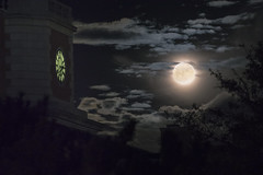 1114 Hurley Admin Building and Super Moon at UNT (movies05) Tags: admin administrationbuilding denton hurley northtexas project365 supermoon unt university clock clouds creepy fullmoon moon spooky tower