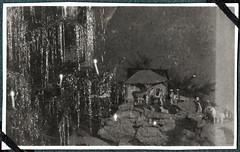 Archiv Chr084 Weihnachtskrippe, Neviges 1922 (Hans-Michael Tappen) Tags: archivhansmichaeltappen neviges 1922 1920s 1920er christbaum tannenbaum weihnachtskrippe krippe figuren krippenaufbau tapete wallpaper lametta lichter kerzen tannenbaumkerzen christbaumkerzen
