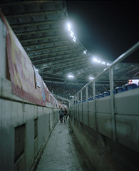 roma (Anders Hviid) Tags: roma olimpico palermo stadium football analog plaubel makina film negative kodak portra 160
