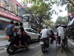 Hanoi traffic (Xnalanx) Tags: asia environment hanoi manmade moped objects people places rickshaw road vehicles vietnam