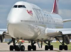 G-VROM (AnDrEwMHoLdEn) Tags: manchester airport virgin 747 virginatlantic manchesterairport egcc 23l
