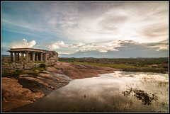 Sunset at Hemakuta Hills, Hampi, India (ujjal dey) Tags: travel reflection temple ancient tourist karnataka unescoworldheritage hampi chalukya runis ujjal ujjaldey hemakutahills