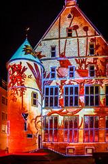 """""""Der rote Platz"""" Mnster Schauraum 2015 (grzegorzmielczarek) Tags: deutschland rathaus nordrheinwestfalen mnster iluminacion roterplatz lichtkunst schauraum"""