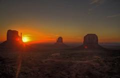 Sunrise (mokastet) Tags: park arizona usa monument america sunrise utah us nation tribal valley navajo monumentvalley mittens reservation 163 coloradoplateau monumentvalleynavajotribalpark ushighway163 eyeofthesun valleyoftherocks navajonationreservation ushighway tsbiindzisgaii sandstonebuttes mokastet