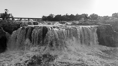 Sioux Falls (Insert something thoughtful) Tags: travel usa sunlight mist photography blackwhite waterfall afternoon falls 169 sioux 6d wisconson canonef24105mmf4lisusm