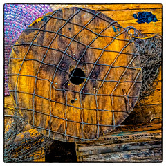 Fresh and Frozen Fish (Timothy Valentine) Tags: wood texture us unitedstates massachusetts large gloucester tuesday netting gloucesterharbor 2015 0815