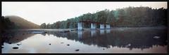 Clipper Bridge (DRCPhoto) Tags: camera 3d lomo lomography turquoise pinhole westvirginia printed clipper cheatriver 6x18 lenslessphotography lomochrome