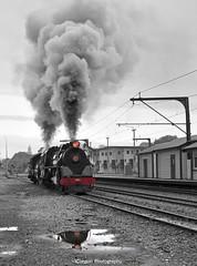 Ja 1271 and Ab 608 Running up and down the yard. (iClaytonPhotography) Tags: white black colour ab double steam locomotive ja thunder inc paekakariki steamincorporated ja1271 doublethunder ab608