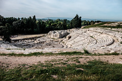 Greek theatre of Syracuse (Lee Rudd Photography) Tags: park italy holiday italia it syracuse sicily archaeological sicilia siracusa neapolis saracusa neapolisarchaeologicalpark