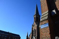 Place de Liberchies (beatricecozier) Tags: place belgique eglise wallonie hainaut liberchies