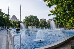 Konya - Haci Veys Zade Mosque From Cultural Park Sultanah Caddesi 3 (Le Monde1) Tags: park lake turkey pond nikon islam mosque sultan turkish dervish anatolia moslem whirlingdervishes culturalpark kltr sinanpasha d7000 lemonde1 hasanpasha haciveyszade sultanahcaddesi fatmahtun