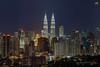 Kuala Lumpur Night Skyline (Nur Ismail Photography) Tags: nightphotography twintowers hdr petronastwintowers suriaklcc nighthdr petronastower3 nurismailphotography nurismailmohammed nurismail