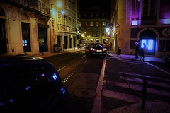 composition in gold and purple (*F~) Tags: street blue light people black portugal night gold purple lisboa explore nocturne humans