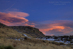 Lenticular Clouds Over North Table Mountain at Sunset (Bridget Calip - Alluring Images) Tags: foothills clouds evening colorado dusk rockymountains blueskies allrightsreserved copyrighted greenmountain 2015 dramaticclouds lenticularclouds mountainwaveclouds bridgetcalip alluringimagesllc highwindsaloft highwindsabove